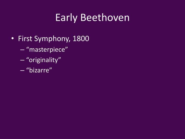 Early Beethoven