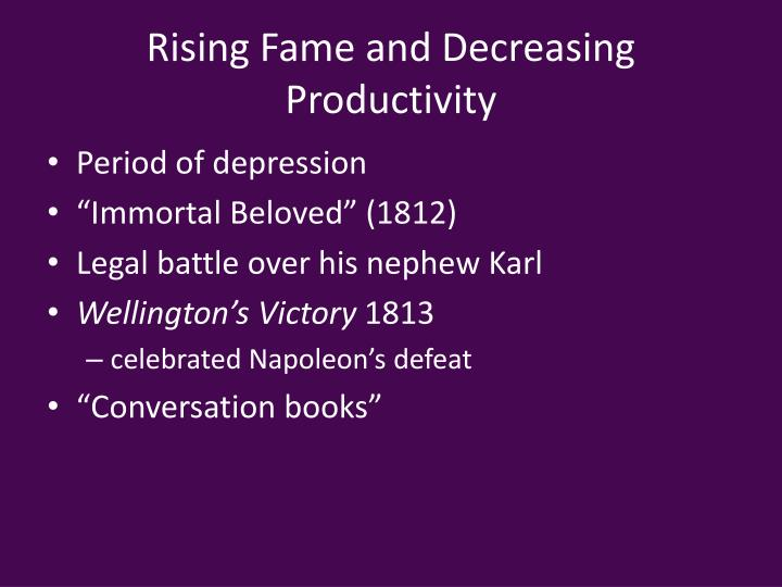 Rising Fame and Decreasing Productivity