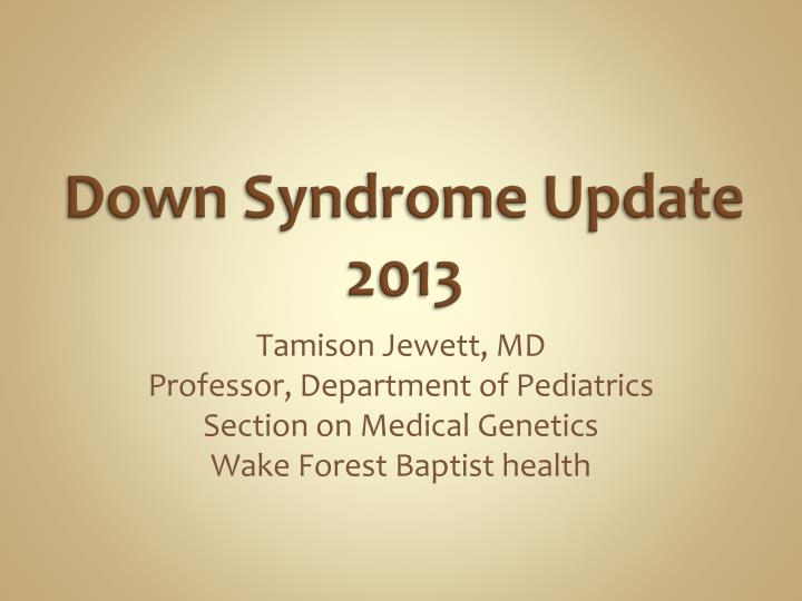 down syndrome update 2013 n.