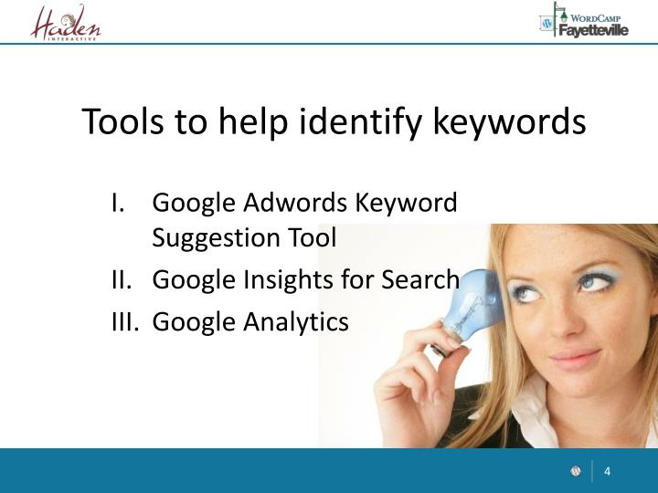 Tools to help identify keywords