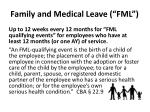 family and medical leave fml