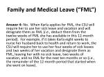 family and medical leave fml6