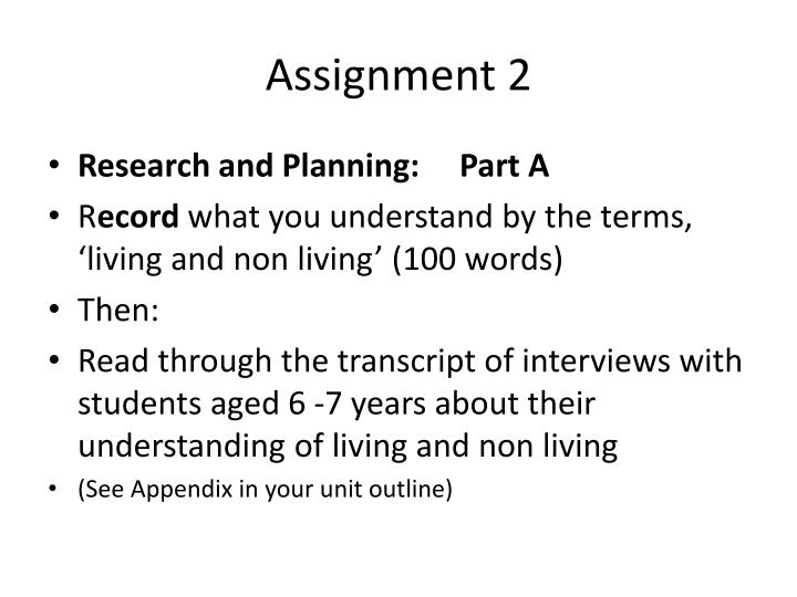 assignment 2 n.