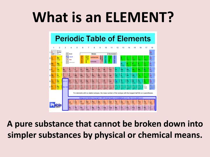 What is an element1