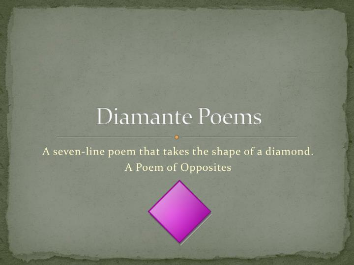 diamante poems n.