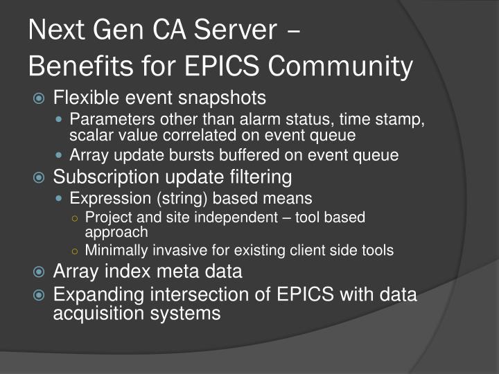 Next Gen CA Server –