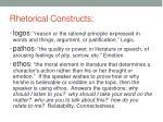 rhetorical constructs