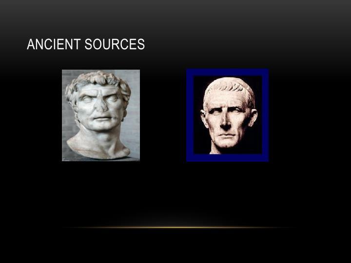 Ancient sources