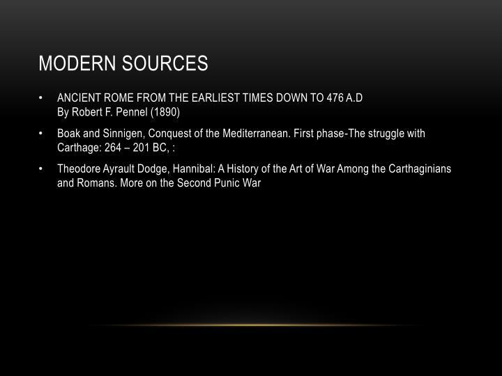 Modern sources