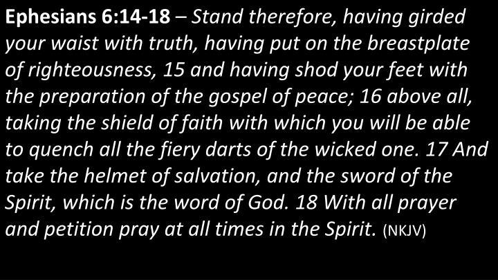 Ephesians 6:14-18