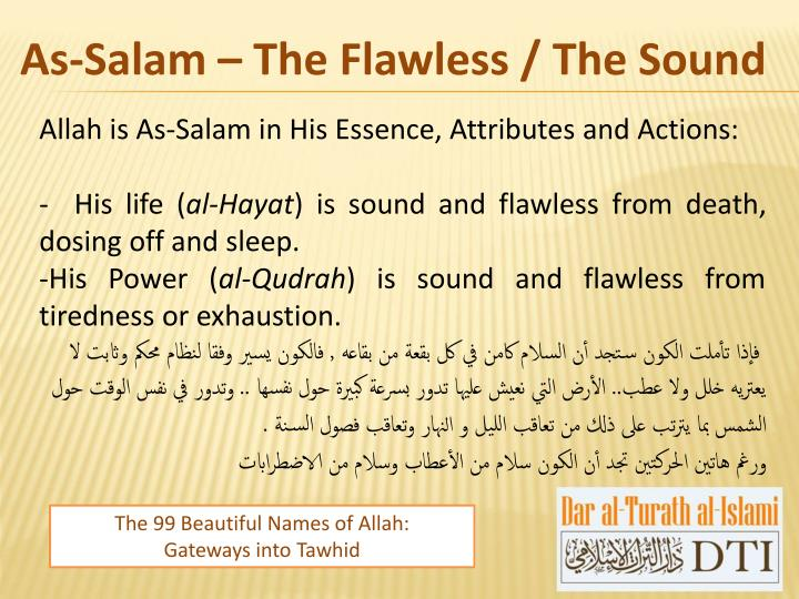 As-Salam – The Flawless / The Sound