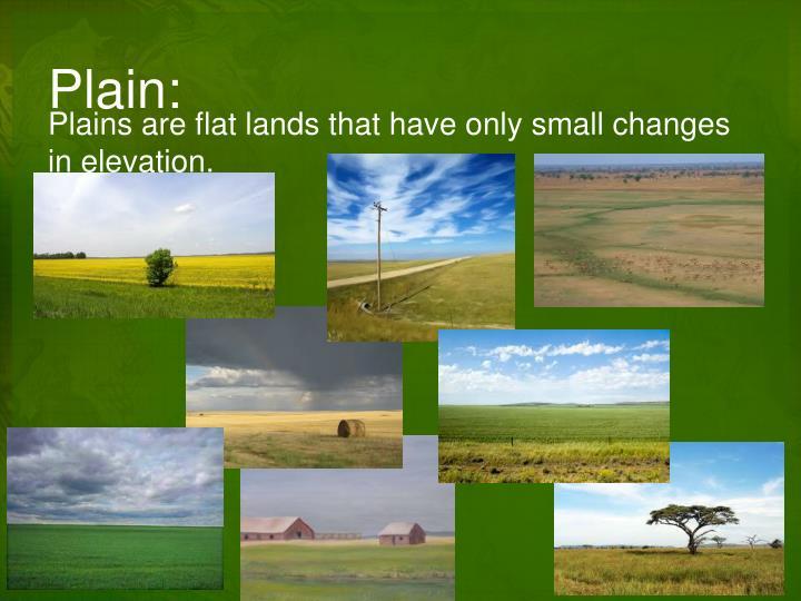 Plain: