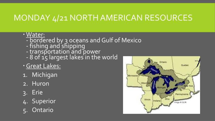 Monday 4/21 North American Resources