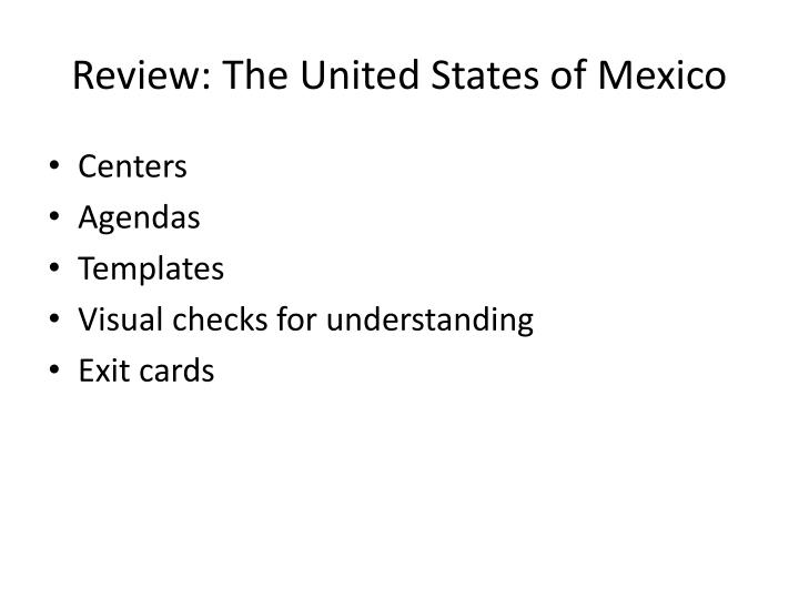 Review the united states of mexico