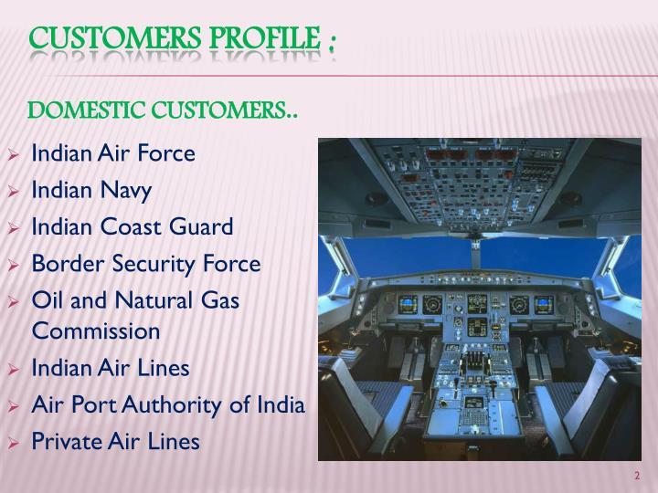 Customers profile