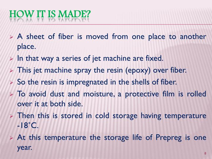 A sheet of fiber is moved from one place to another place.