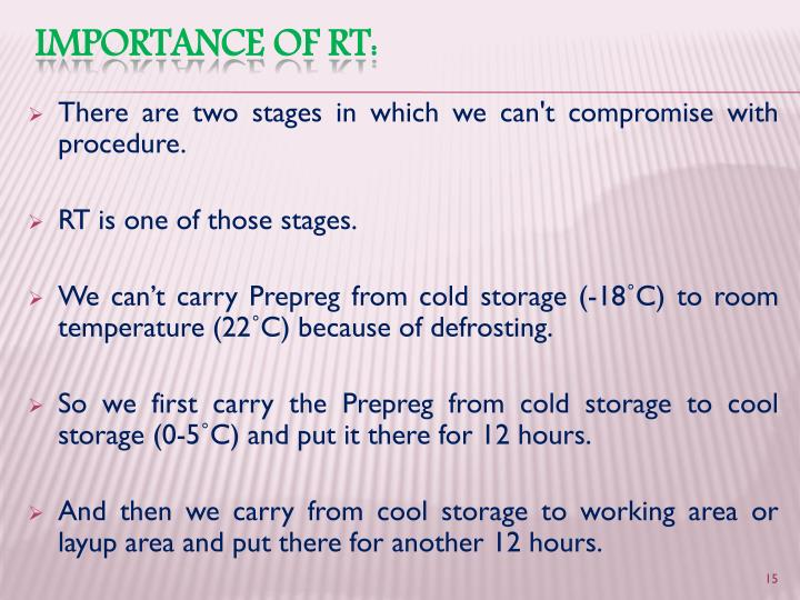 There are two stages in which we can't compromise with procedure.