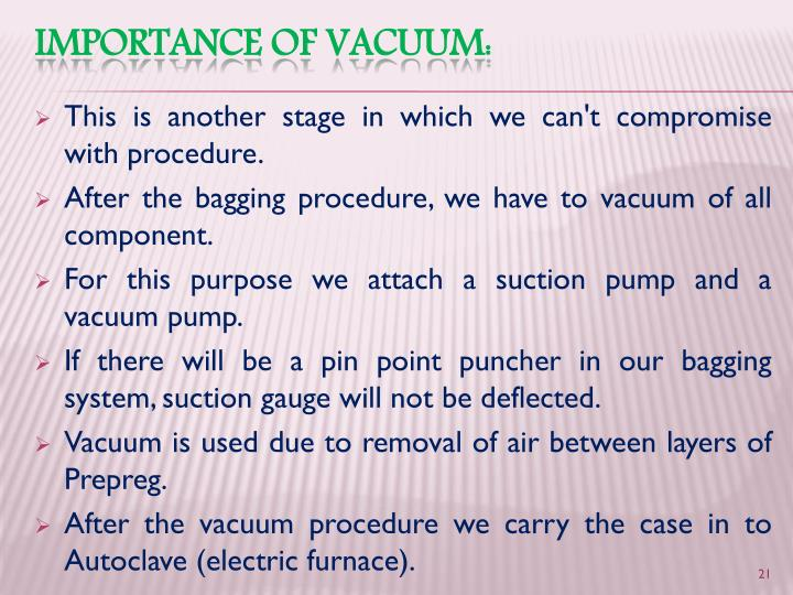 This is another stage in which we can't compromise with procedure.