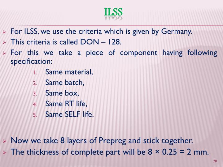 For ILSS, we use the criteria which is given by Germany.