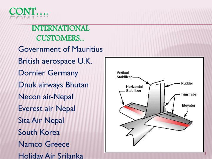 INTERNATIONAL CUSTOMERS...