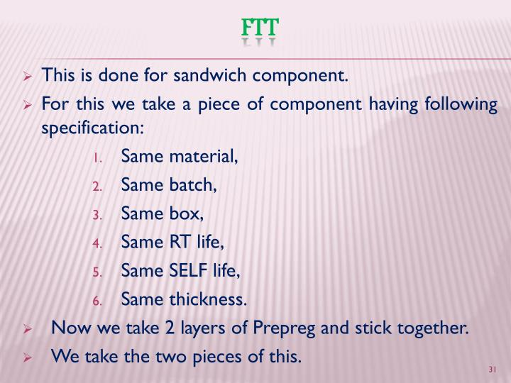 This is done for sandwich component.
