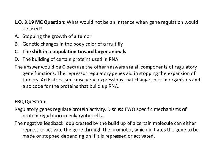 L.O. 3.19 MC Question: