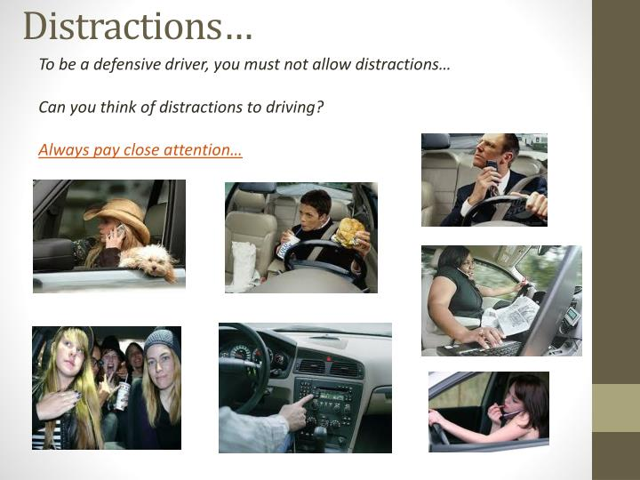 Distractions…