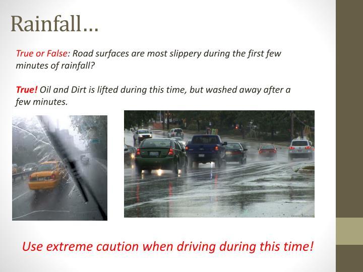 Rainfall…