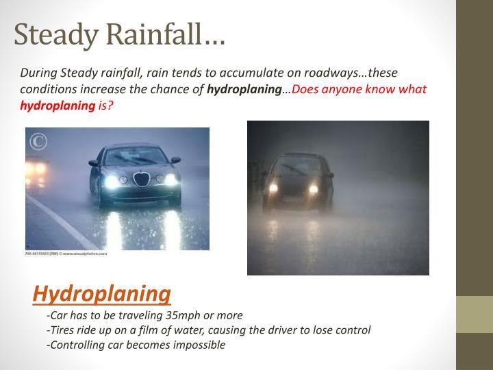 Steady Rainfall…