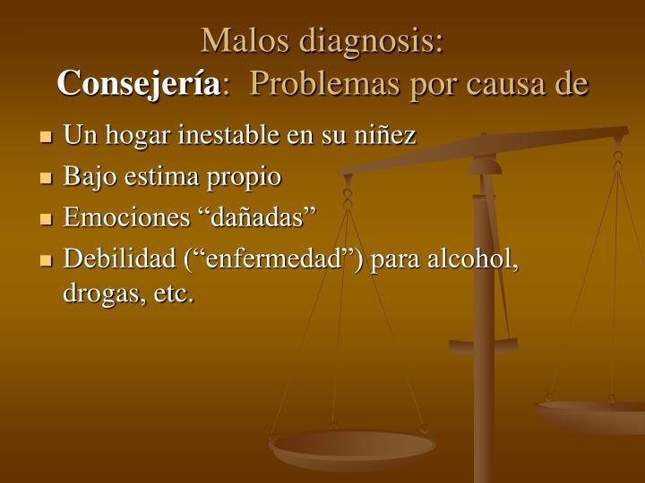Malos diagnosis: