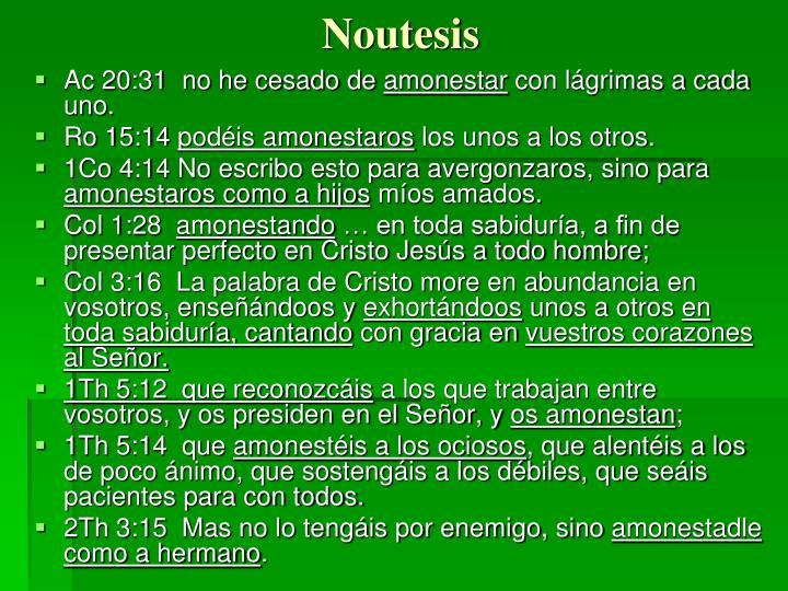 Noutesis