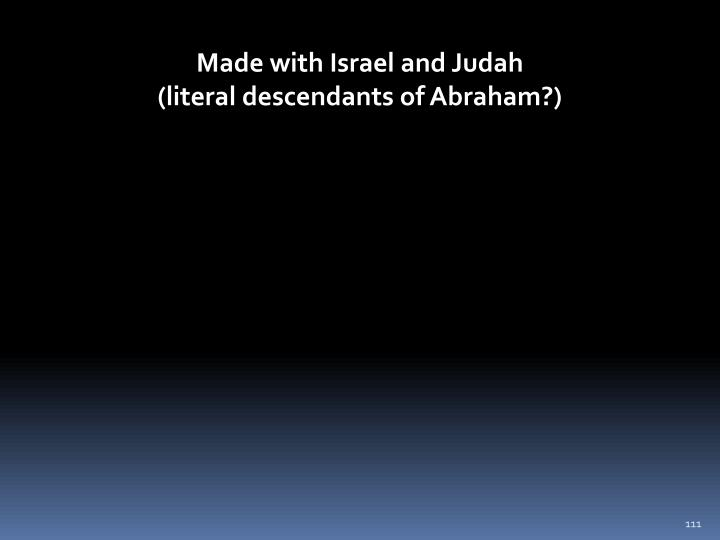 Made with Israel and Judah