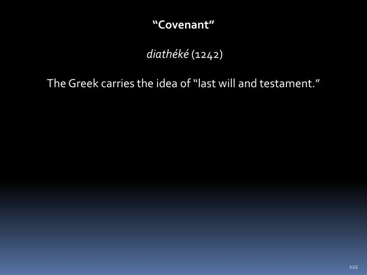 """Covenant"""