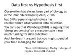 data first vs hypothesis first7