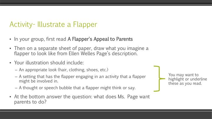Activity- Illustrate a Flapper