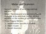 meter and scansion