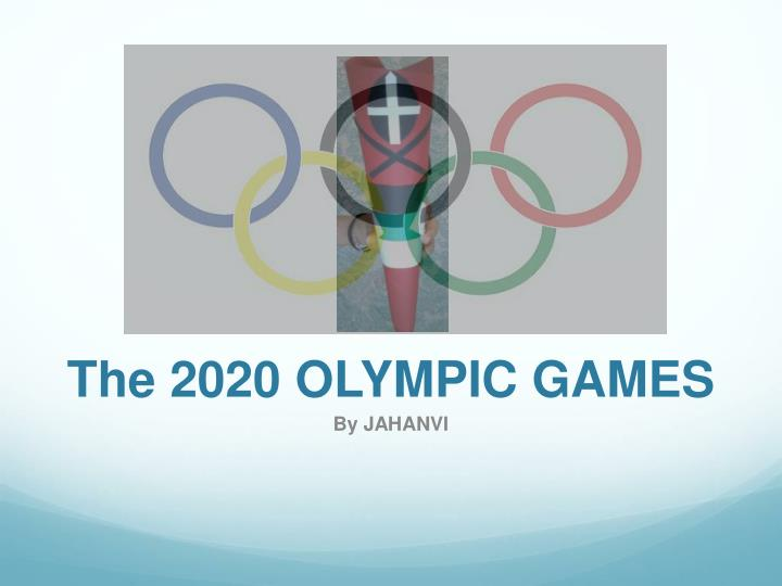 the 2020 olympic games n.