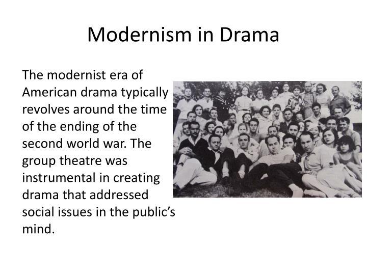Modernism in Drama