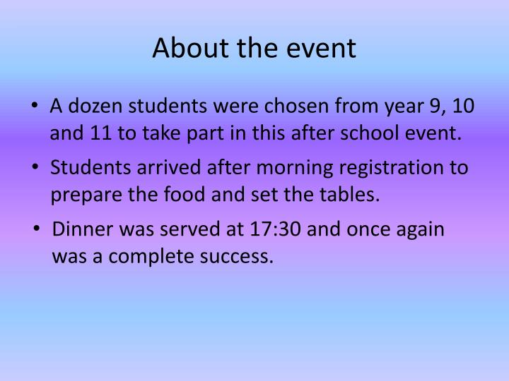 About the event