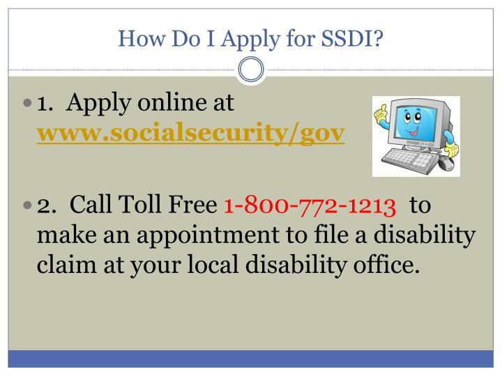 How Do I Apply for SSDI?