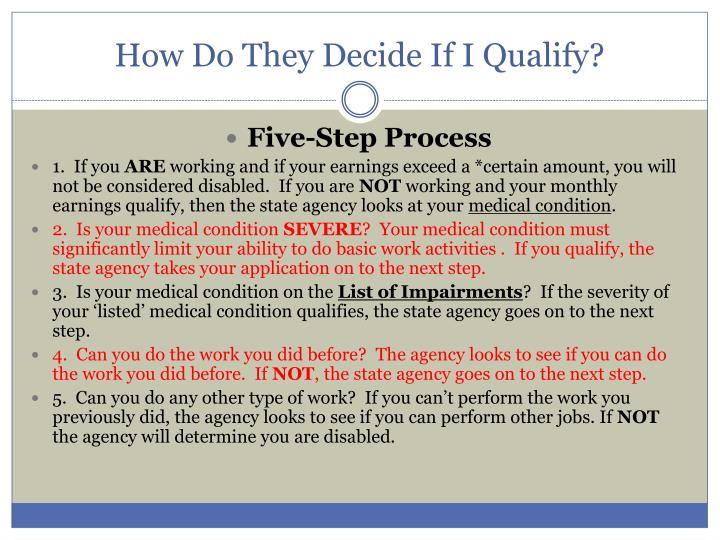 How Do They Decide If I Qualify?