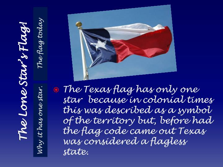 The lone star s flag