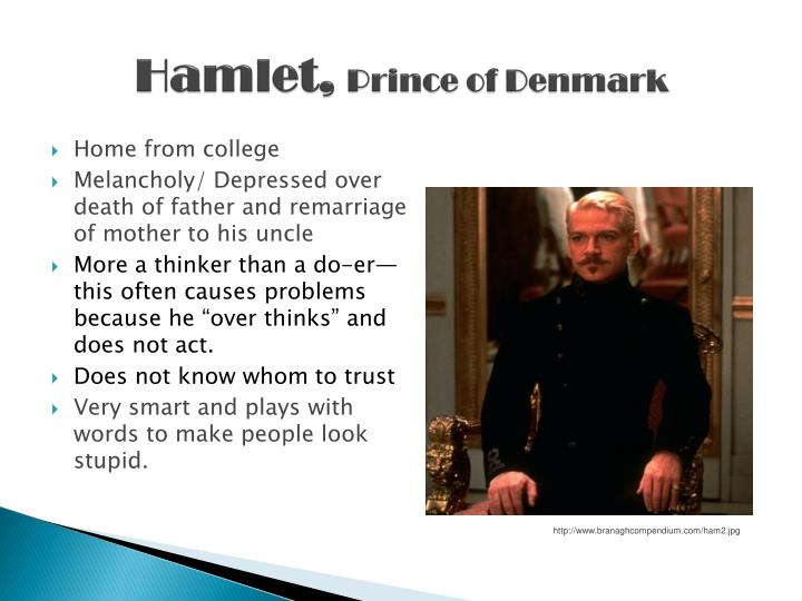 hamlet prince of denmark essay A bond between a father and a son is sacred, and is surely one of the most firm bonds that have ever existed when such a bond is severed, a lot of anger can be provoked, most probably in the form of revenge.