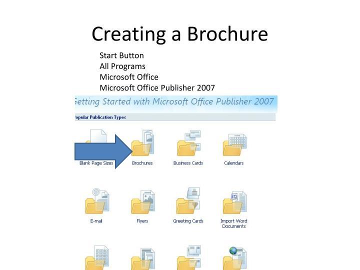 Creating a Brochure