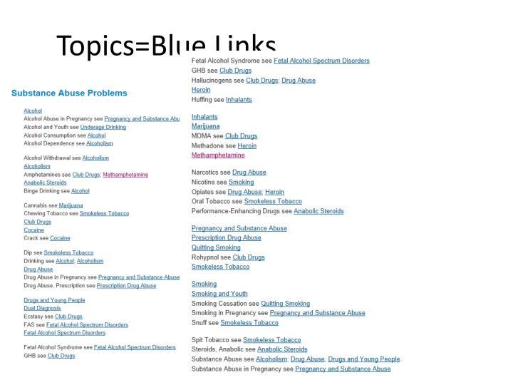 Topics=Blue Links