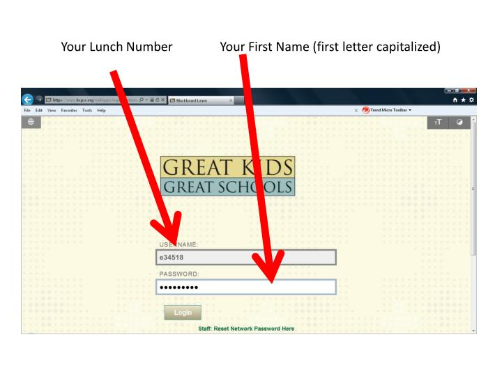 Your Lunch Number               Your First Name (first letter capitalized)