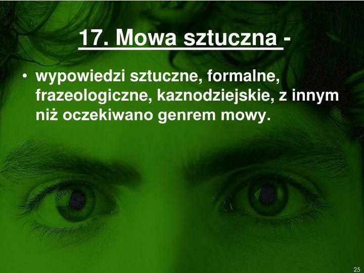 17. Mowa sztuczna