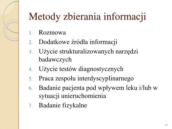 Metody zbierania informacji