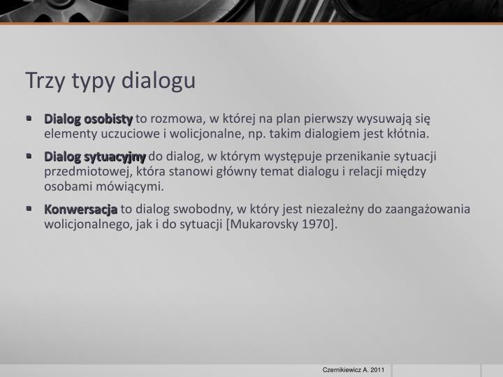 Trzy typy dialogu