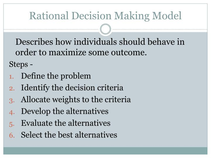 Rational Decision Making Model